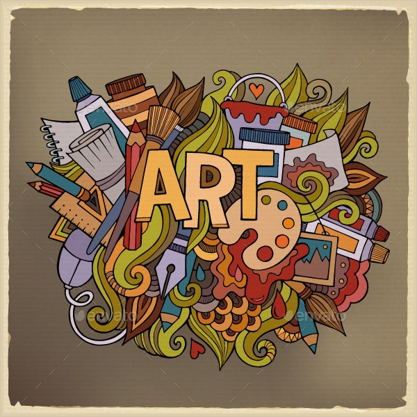 What Is Art And Design : Imaginative doodle art designs free premium templates