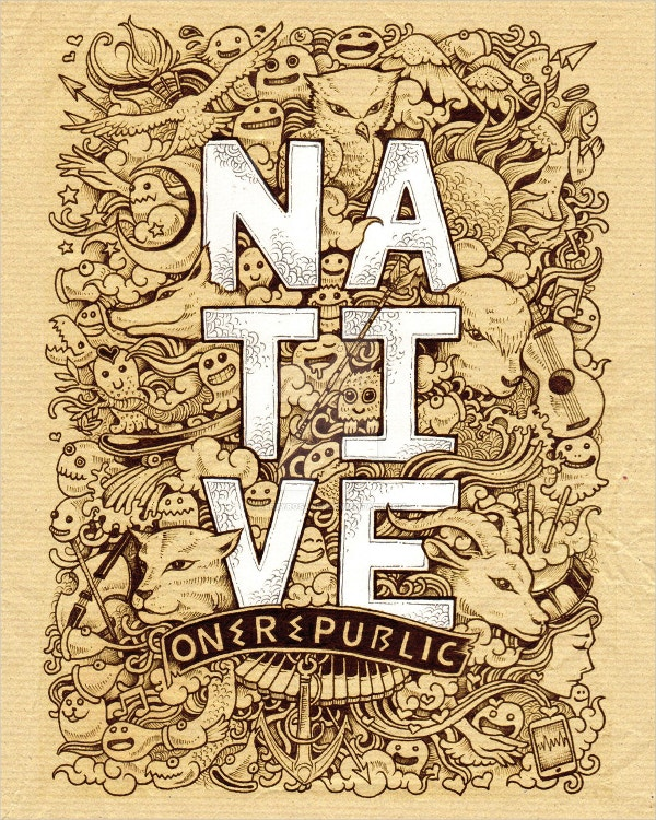 native doodle art design1