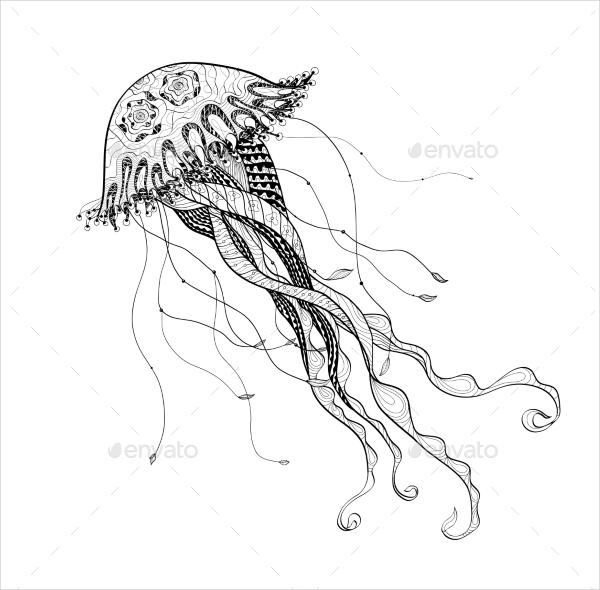 doodle sketch medusa
