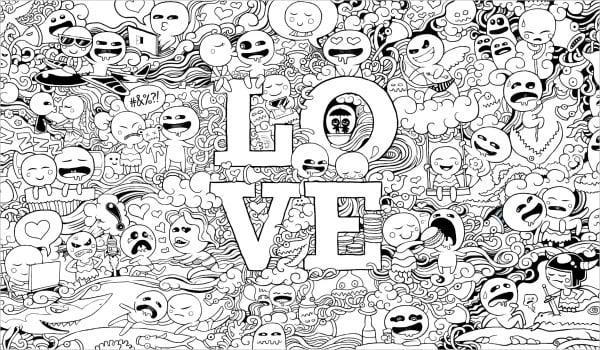 Love Doodle Art Design