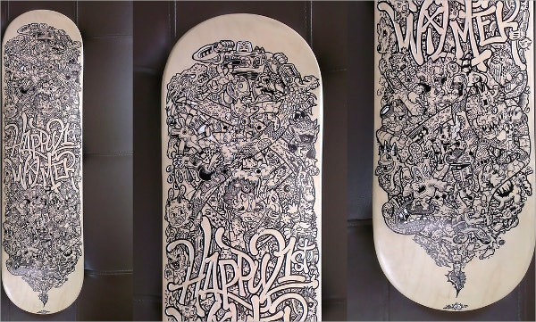 skateboard doodle art1