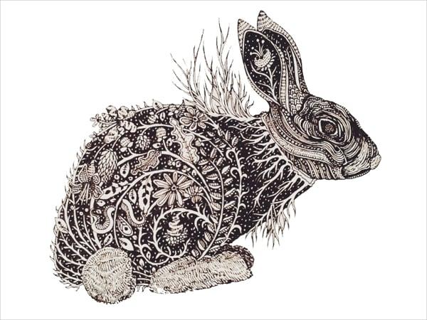 rabbit%e2%80%99s dreamland doodle art