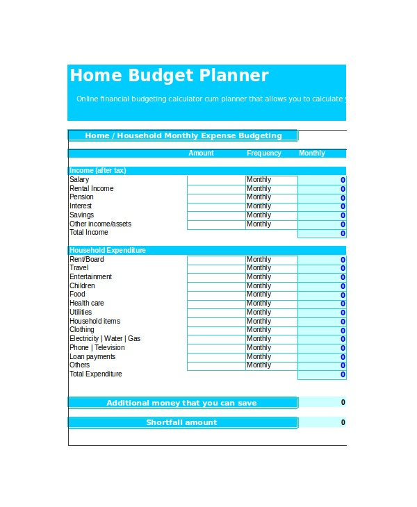 Excel Monthly Budget Template 18 Free Excel Document Downloads