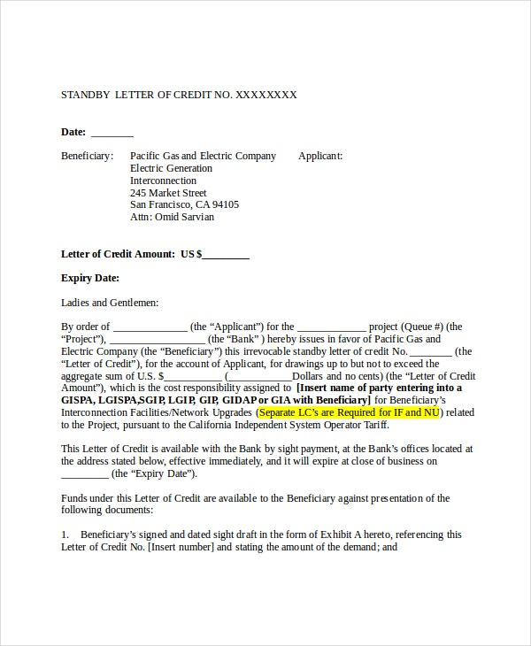 6+ Credit Reference Letter Templates - Free Sample, Example