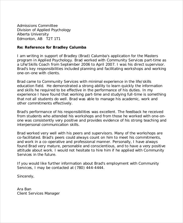 letter of recommendation for a teacher 8 reference letter for templates free sample 43340
