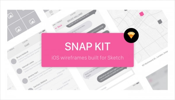 Snap UI iOS8 Wireframe