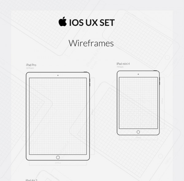 Free iOS UX Wireframe & Icon Set