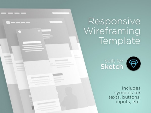 Responsive Wireframe Template Sketch Resource