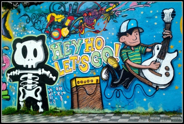 Brazil Graffiti Side Walk Art