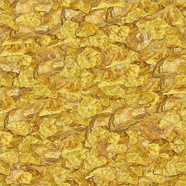 Gold Nuggets Seamless Texture