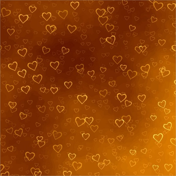 Golden Hearts Texture