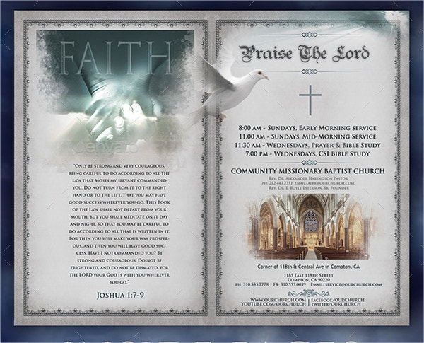 church brochures templates - 19 program brochure templates free psd ai eps format