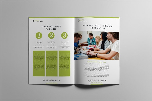 Student summer program brochure