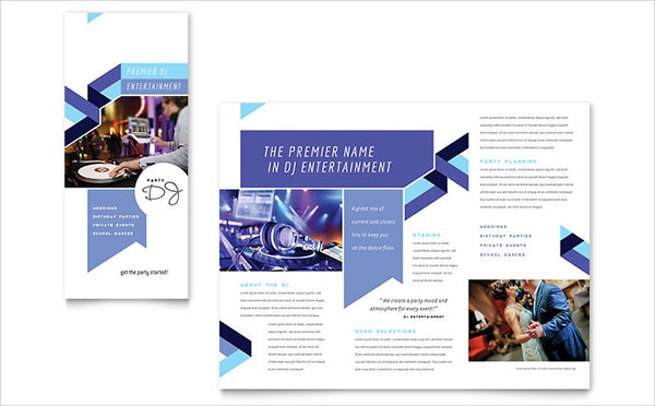 DJ Program Brochure Template