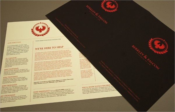 Professional Law Firm Brochure Template