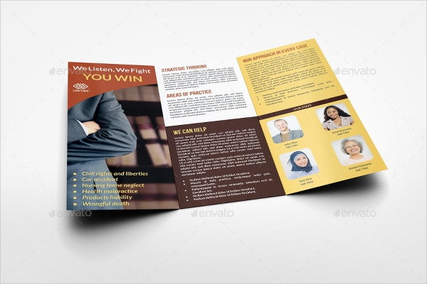 Law Firm Tri Fold Brochure