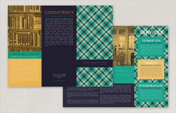 Plaid Law Firm Brochure Template