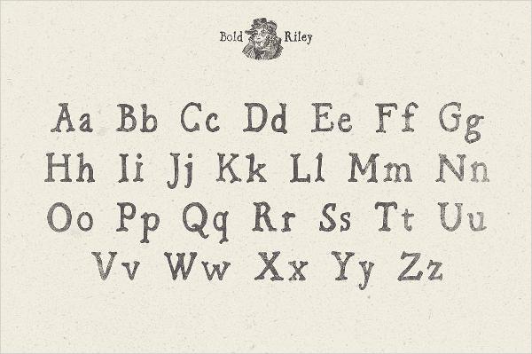bold riley font