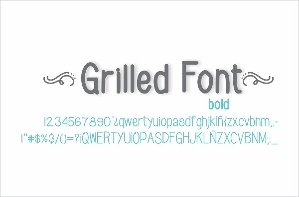 grilled bold font