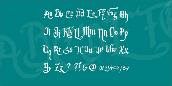 harry potter bold font