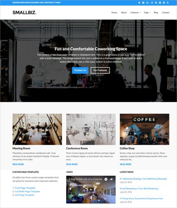 Professional Business & Corporate WordPress Theme $49