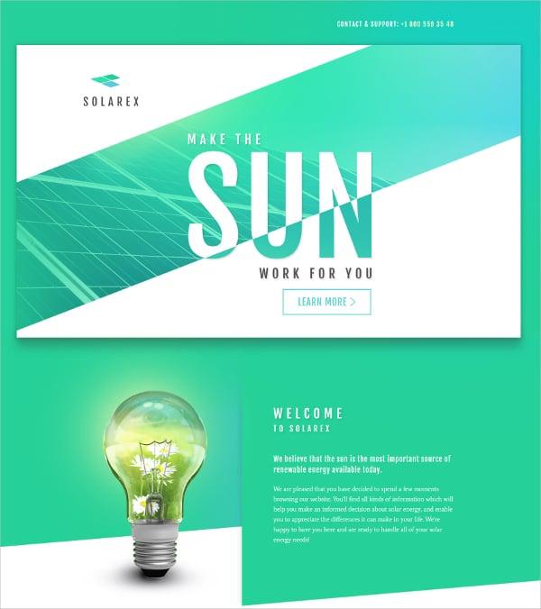 Premium Solar Energy HTML5 Template $10