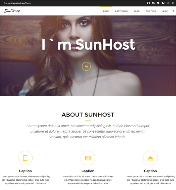 Personal Portfolio HTML5 WordPress Theme $59