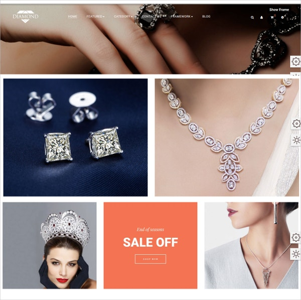 Fashion Jewelry HTML5 Prestashop Theme $69