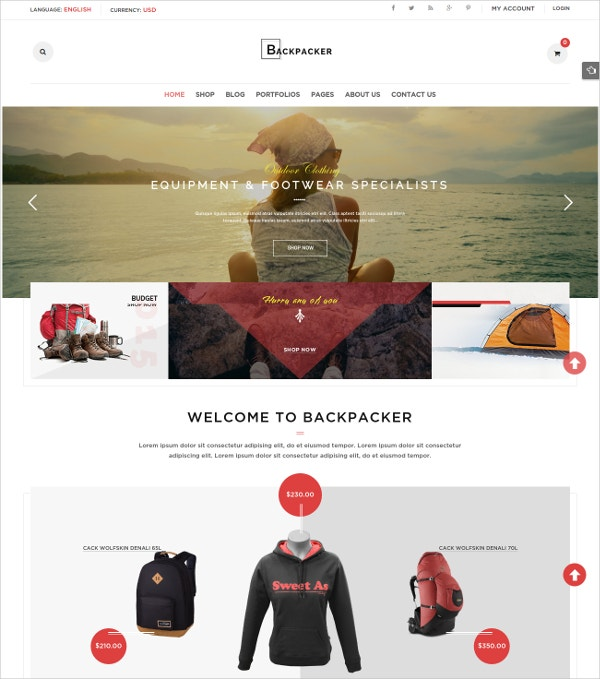 Model eCommerce WooCommerce WordPress Theme $59