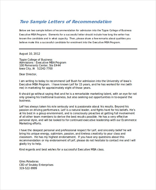 reference letter for college acceptance