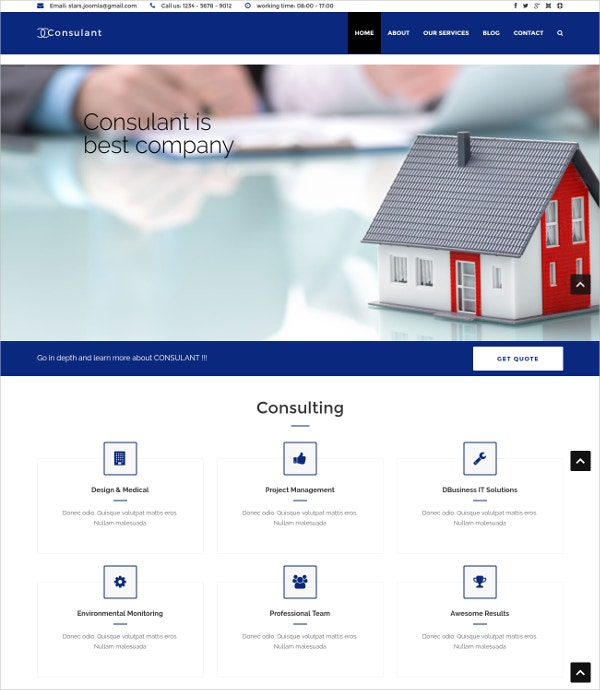 Corporate & Business Consulting Joomla Template $48