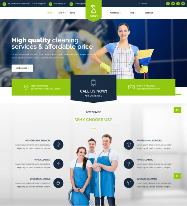 General Cleaning Business Service Joomla Template $48