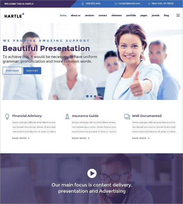 Creative Buainess Joomla Template $48