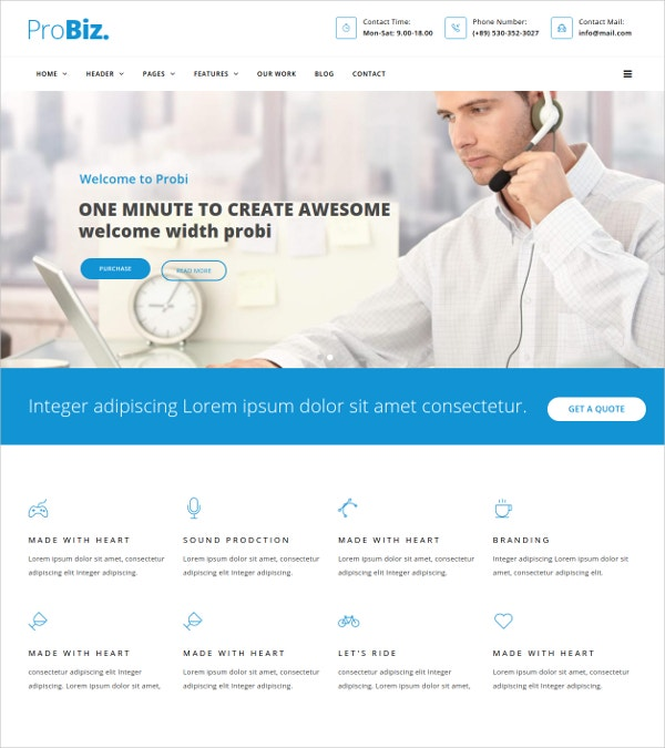 Creative Business Agency Drupal Theme $48