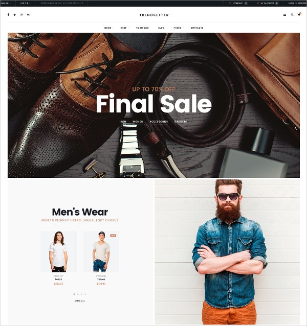 Fashion eCommerce Blog Template $11