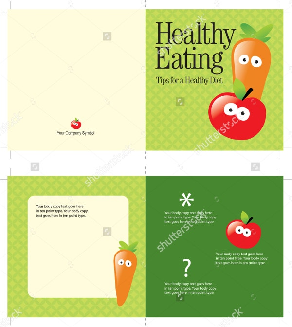 healthy food brochure
