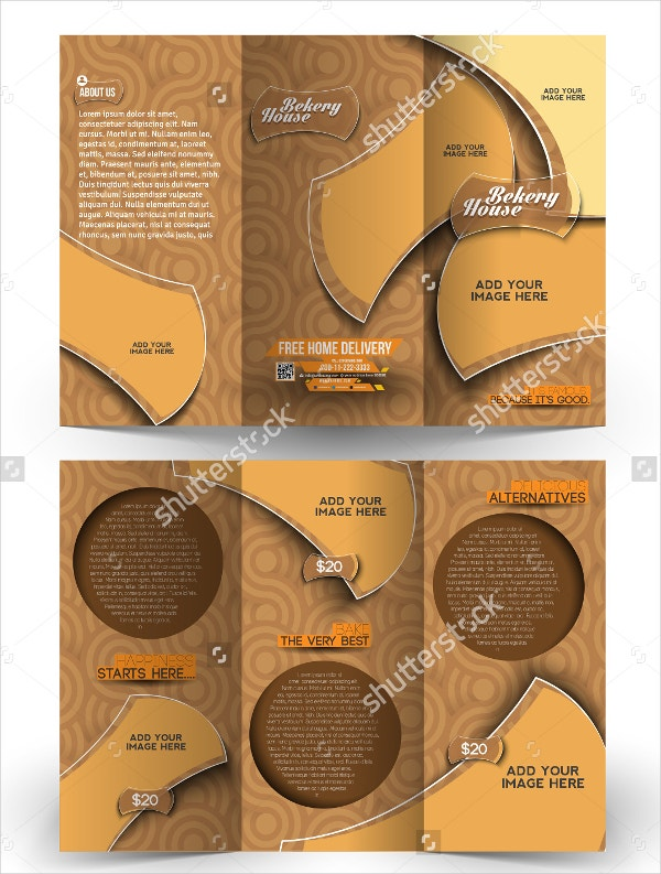 bakery food brochure template