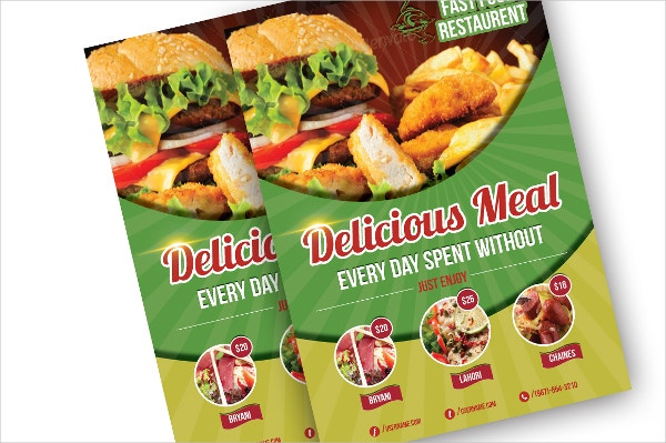 20 food brochure templates free psd eps ai format for Free food brochure templates