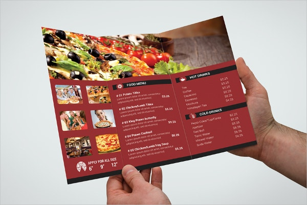 Pizza Place Trifold Brochure