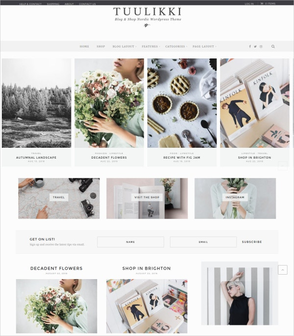 Feminine Creative Blog & Shop Theme $49