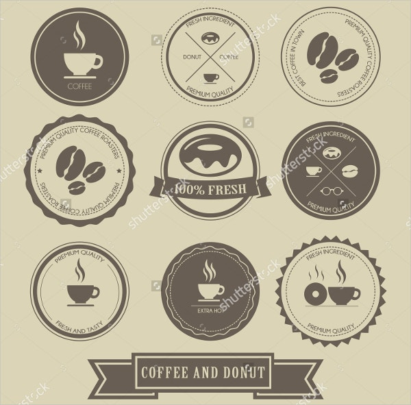 Coffee Themed Logos Stock Vector Bundle