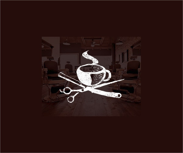 Espresso Barber Shop Coffe Logo Design