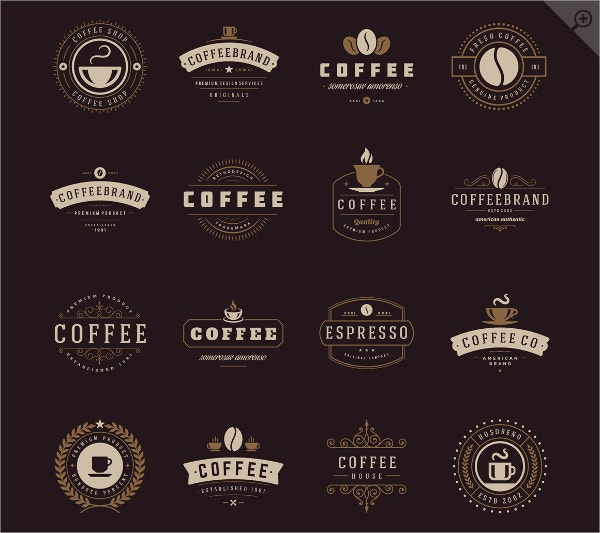 Coffee Logo Badges Bundle Download