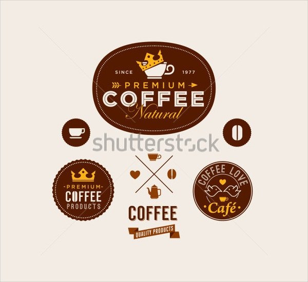 Vintage Style Retro Coffee Labels