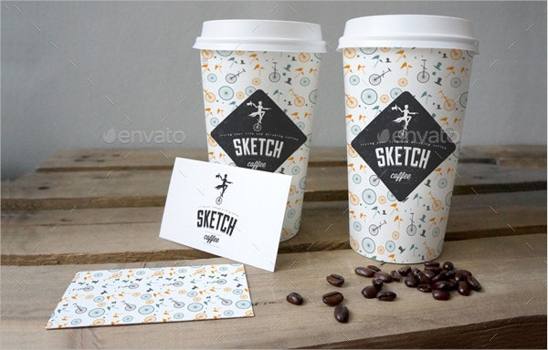 Cafe Branding Logo Mockup Bundle