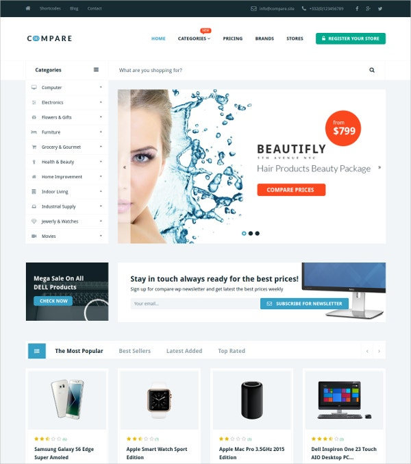 Marketing Price Comparison WordPress Theme $49