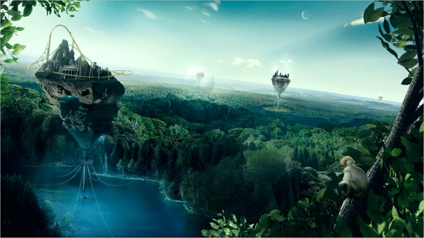 Nature Based Concept Art PSD Painting