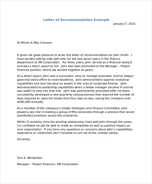 Immigration Reference Letter Templates  Free Sample Example