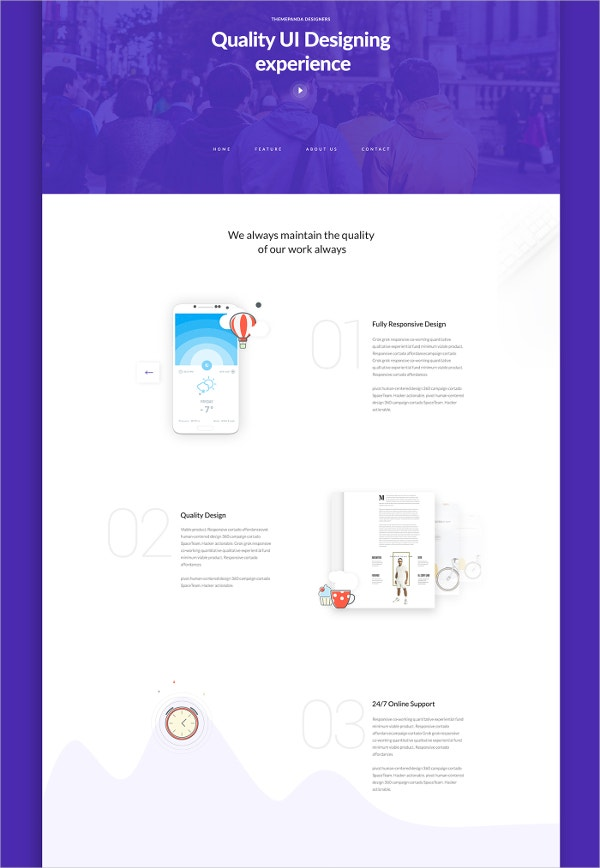Theme unit web landing page