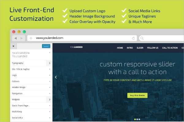 You-Landed WordPress landing page